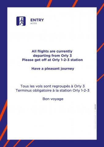 Tous les vols sont regroupés à Orly 3